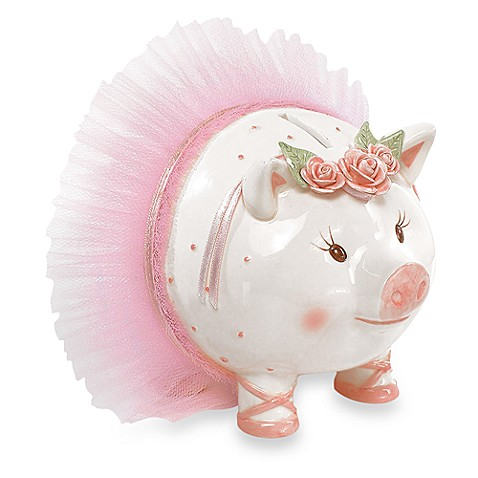 Mud Pie® Tiny Dancer Giant Size Ceramic Piggy Bank