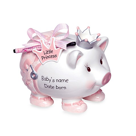Mud Pie™ Little Princess Personalization Bank With Pen