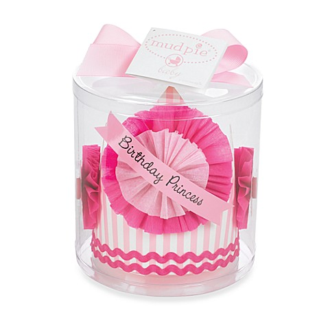Mud Pie™ Little Princess Birthday Striped Paper Crown
