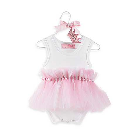 Mud Pie™ Princess Tulle Knotted Tutu Bodysuit - Size 0-6 Months