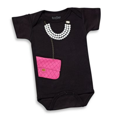 Sara Kety® Pink Bag with Pearls Size 12 Months Bodysuit