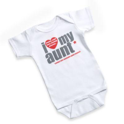 Sara Kety® I Love My Aunt Size 12 Months Bodysuit