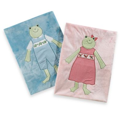 Pickles® Hattie Girl Frog Blanket in Pink