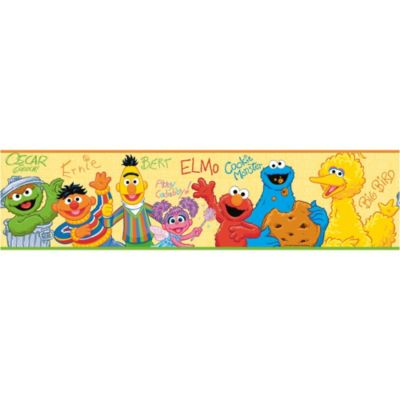 Roomates Sesame Street Wall Decal Border