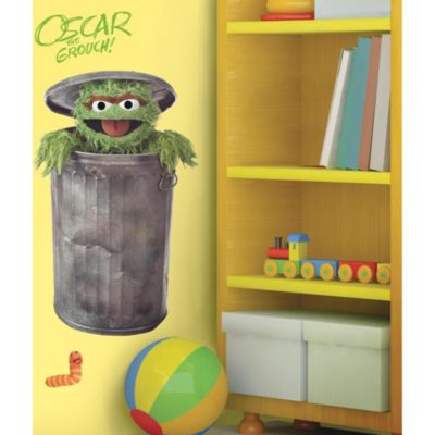 Roomates Sesame Street Giant Oscar the Grouch Wall Decal