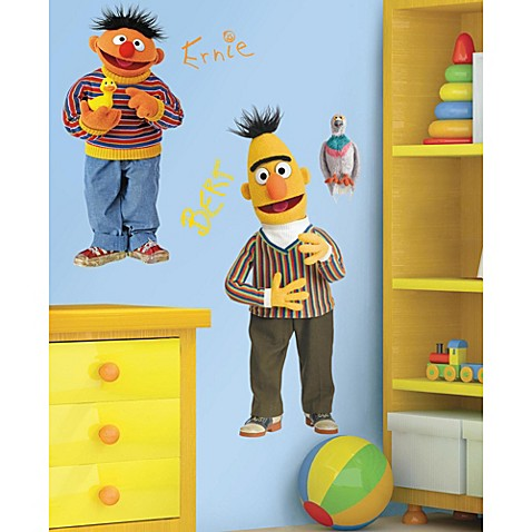 Roomates Sesame Street Giant Burt and Ernie Wall Decal