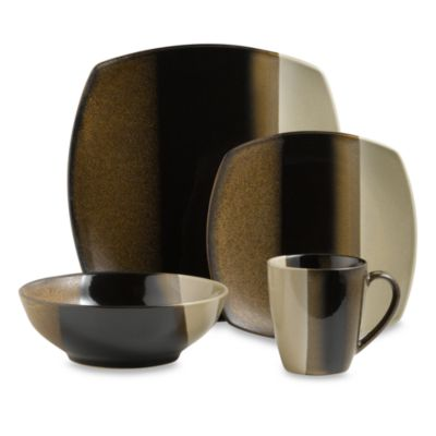 Sango Deco Black 16-Piece Dinnerware Set