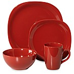 Thomson Pottery Quadro 16-Piece Dinnerware Set in Red