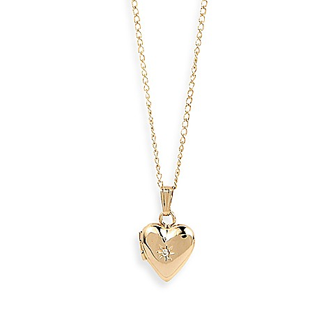 Elegant Baby® 14K Gold Filled Heart Shaped Locket
