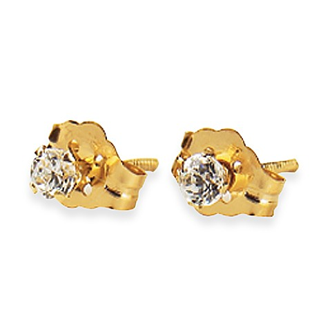 Elegant Baby® Cubic Zirconium 14K Gold Earrings