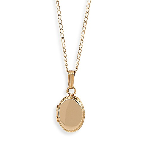 Elegant Baby® Oval Locket Necklace