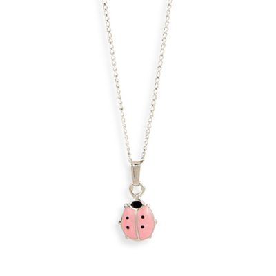 Elegant Baby® Pink Lady Bug Sterling Silver Necklace