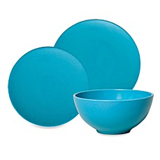 Solid Turquoise Round Dinnerware