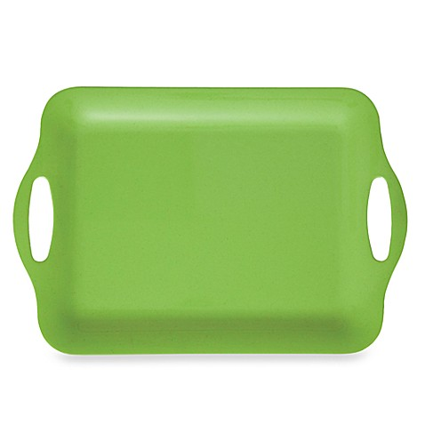 Solid Green Serving Tray - Large