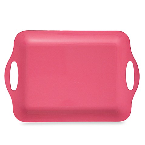 Solid Pink Serving Tray - Large