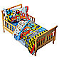 Sesame Street Fire Department 4-Piece Toddler Bedding Set