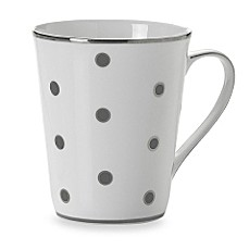 Mikasa® Color Studio Grey and Platinum Dots 13-Ounce Mugs (Set of 4)