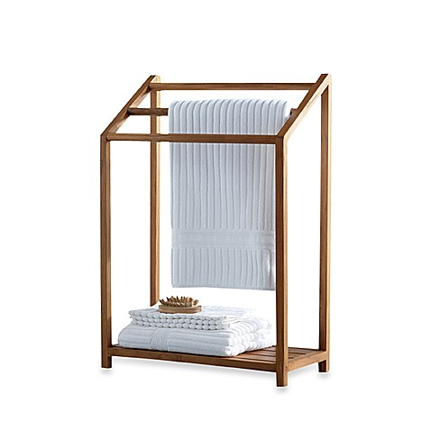 Teak Free Standing Towel Rack Bed Bath Beyond