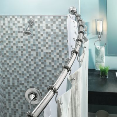 Chrome Adjustable Shower Rods