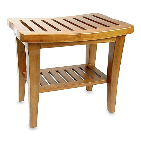 Teak wood shower bench Bath bench