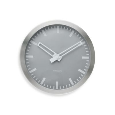 Color Splash 10-Inch Mini Wall Clock in Silver