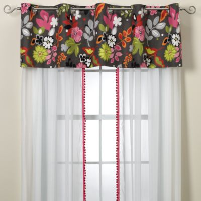 Green Pink Window Valance