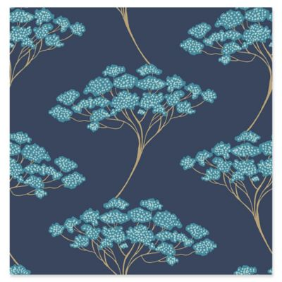 Kenneth James Banyan Tree Wallpaper in Navy