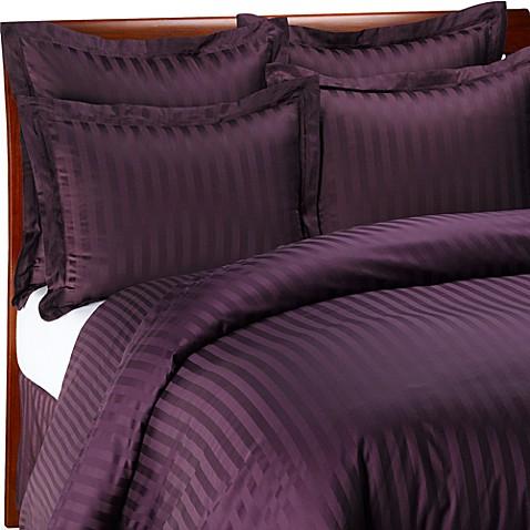 Wamsutta 174 500 Damask Duvet Cover Set In Purple Bed Bath