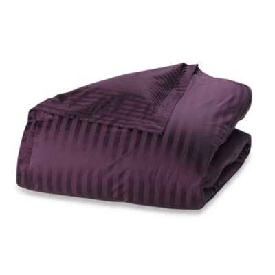 Wamsutta® 500 Damask Twin Duvet Cover Set in Purple