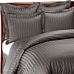 Wamsutta® 500 Damask Charcoal Duvet Cover Set, 100% Cotton, 500 Thread Count