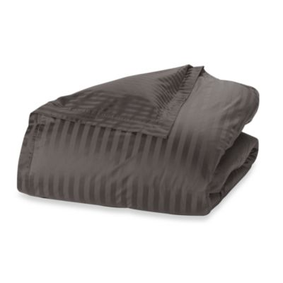 Wamsutta® 500 Damask King Duvet Cover Set in Charcoal