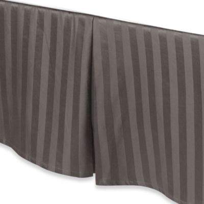 Wamsutta® 500 Damask Bed Skirt in Charcoal