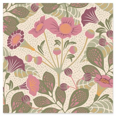 Swedish Patterns Tropisk Floral Wallpaper in Pink