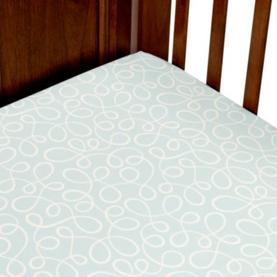 Glenna Jean Finley Blue Swirl Fitted Crib Sheet