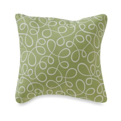 Glenna Jean Finley Green Swirl Pillow