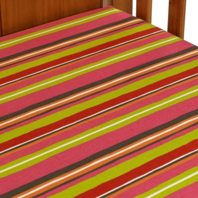 Striped Fitted Crib Sheet