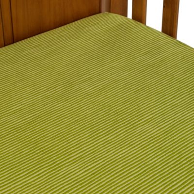 Glenna Jean Kirby Fitted Crib Sheet in Green