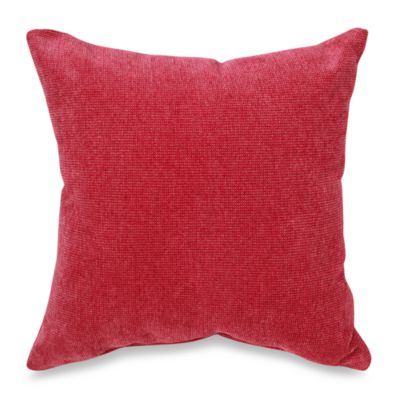 Glenna Jean Kirby Square Throw Pillow in Raspberry