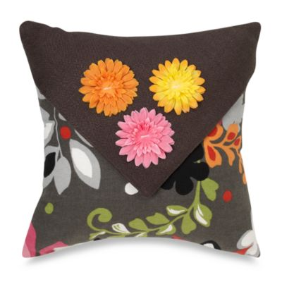 Glenna Jean Kirby 3D Floral Throw Pillow