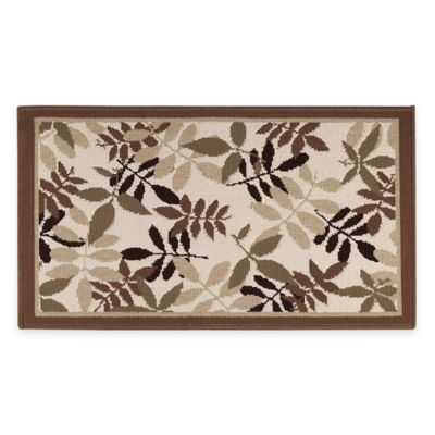 Floral 19-Inch x 33.8-Inch Accent Rug