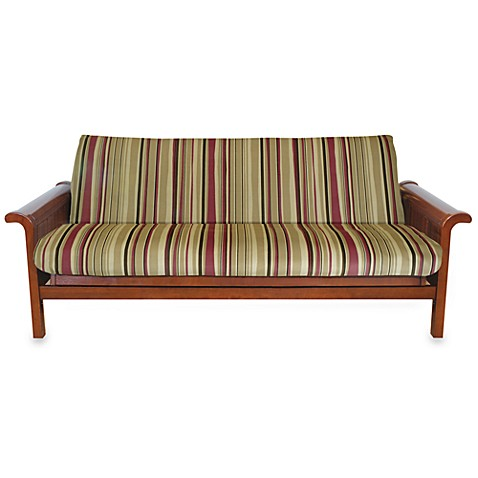 Brushed Cotton Twill Futon Cover in Red Stripe