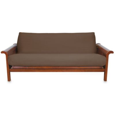 Brushed Cotton Twill Futon Cover in Chocolate