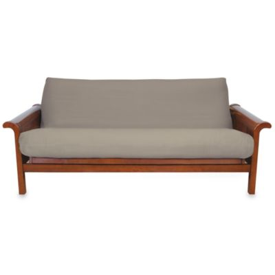 Brushed Cotton Twill Futon Cover in Khaki