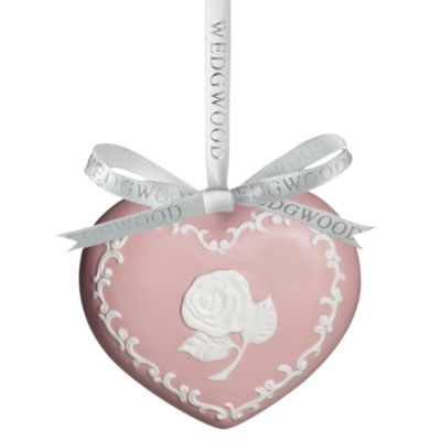 Wedgwood® Breast Cancer Awareness Heart Ornament