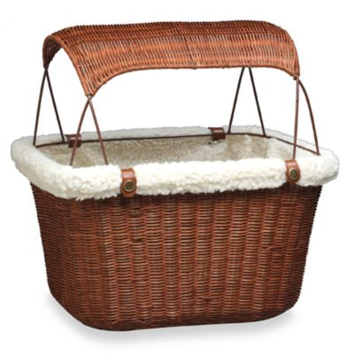 Wicker Bicycle Pet Basket