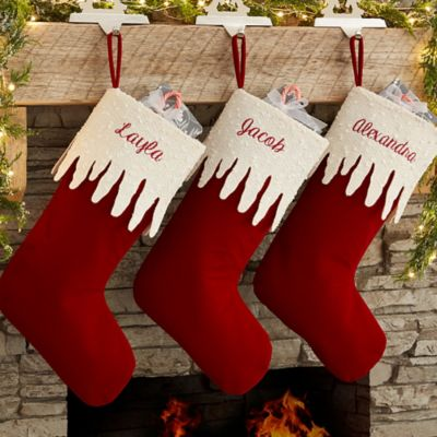 Sparkling Icicle Christmas Stocking
