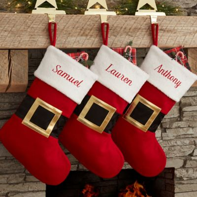 Santa Belt Christmas Stocking