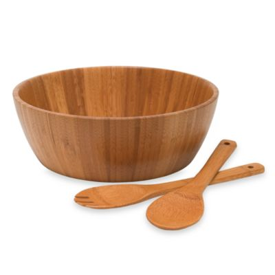 Lipper International 3-Piece Wooden Salad Serving Set
