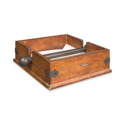Wooden Napkin Holder with Metal Bar