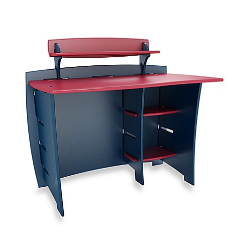 Legare 43-Inch Navy/Red Desk with PDA Shelf